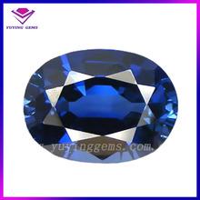 China supplier oval shape blue sapphire corundum ruby for jewelry