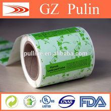Sticker printing in roll organic private label cosmetics