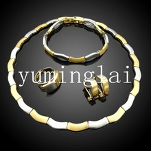 Dubai gold filled jewelry set wholesale chunky statement necklace in china jewelry display set
