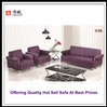 F6010 Design Patent Purple Leather Sectional Sofa