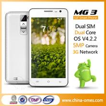 Shenzhen 5 inch cell phone mtk6572 dual core 3g phone 5mp dual sim
