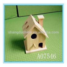 Handmade wholesale high quality wooden bird house