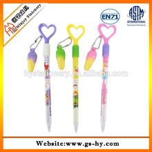 Korean cute design heart shape ball point pen