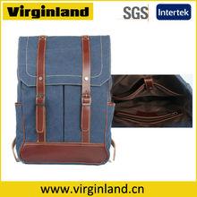 8085 Top Grade Quality Vintage Canvas Custom Made Backpack Computer Bag with Laptop Pocket