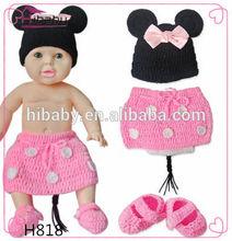 H818 el- bebek giysileri örme doğan resimleri mickey kostüm bayan modelleri yay dört set