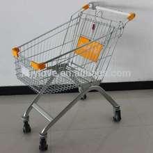 60 liters zinc plated supermarket shopping cart MJY-60B3