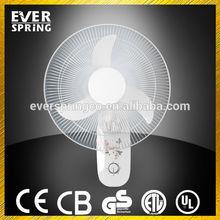 Best quality 16 inch DC 12V wall fan with solar cap