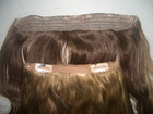 100% human remy hair clip hair piece hair extension for blonde black women
