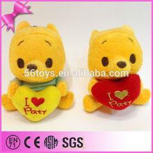 Winnie bear gift plush toy custom