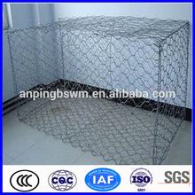 Electrical galvanized Hexagonal gabion box stone cage