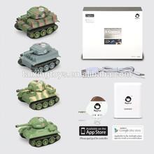 Iphone/Android Radio Control Kumite Tank Cars Kids Battery USB Toys