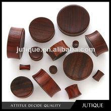 Flared Brown Sono Wood Chocolate Ear Stretcher Plug body piercing jewelry