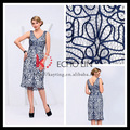 de verano nuevo estilo floral de encaje casual vestido de noche corto en línea boutique vestido de cóctel