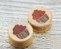 el diseño único talladas a mano de pintura de madera barata tapones de carne el precio de fábrica de joyería piercing