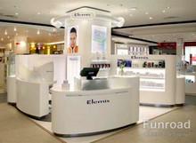 Circle Island Shopping Mall Cosmetic Display Kiosk with Lighting LED Box