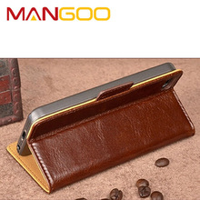 Hot selling PU Leather magnetic button cell phone case for iPhone 6 cover