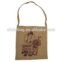 Raw jute simple shoulder bag