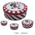 Ronda de navidad caja de la lata t-10030