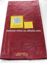 african bazin fabric burgandy guinea brocade 2014 BZ0001