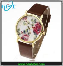 The new colorful 2014 cheap genewa new design watches fashion geneva flower watch