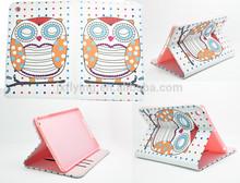 Nice owl bird flip leather case for ipad 5 air with card slot