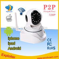 11pcs IR LED P2P ONVIF HD720P WIFI Wireless Small Car IP Camera