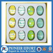 Set of 12 Wooden hanging Easter eggs