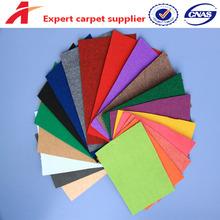 non woven needle punched plain surface carpet exhibition