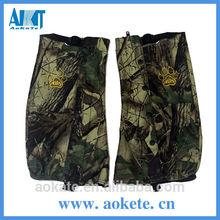 Camo genéricos y tejido de punto de poliéster verde- mixto de caza de algodón polainas pierna para equipos de caza
