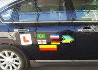 Magnet car sticker;magnetic sheet+printed vinyl,120mm*240mm*0.6mm