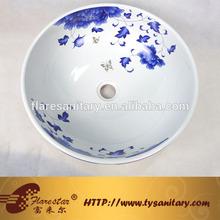 sanitary ceramic art basin bathroom reception countertop Pure manual
