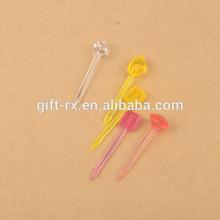 ps plastic fruit fork