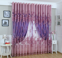 2014 new design 100% polyester sheer curtains