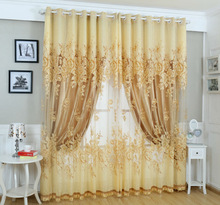 2014 hot sale 100% polyester home used curtains