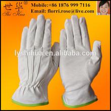 safety white cotton parade glove