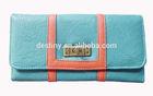 Promotional stylish lady money clip wallet ladies wallet ladies pars hand set bag genuine wal manufacturer