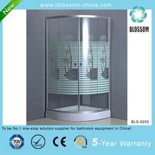satin finish aluminum profile simple shower room