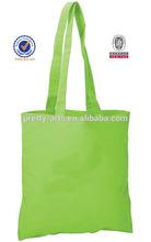 green cotton tote bag