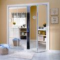 Simples e bonito espelho deslizante portas do armário
