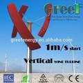 Hot! Pequeno vento gerador de 300 w, Residencial geradores de energia eólica, 300 W verticais preço turbina eólica