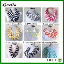 fashion handmade stripe polyester voile scarf