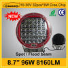 Hotsale 8.7 inch 8160LM 96W led worklights driving light