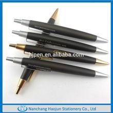 Matt Black Color Plush Metal Pen With Silver Parts