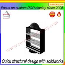acrylic rotating nail polish display rack/rotating cosmetic display