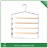 Multi-use laundry 4 tiers pvc-coated metal pants hangers