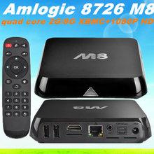 XBMC Gotham android 4.4 m8 4k ott tv box Amlogic 8726 M8 S802 quad core 2.0GHz 2GB 8GB Bluetooth 2.4G/5G Dual WiFi True HD DTS