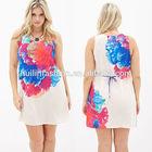 new 2014 fashion fat clothing mini dress wholesale plus size women clothing