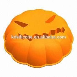Heat Hesistant and Non-stick Halloween Pumpkin Cake Pan Mold,wholesale halloween skeleton skull head cake mold