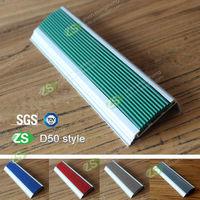 2014 new design decorative anti-slip aluminium stair nosing profiles