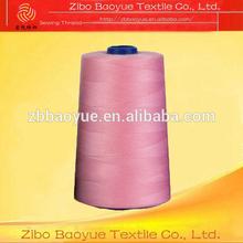 42S/2 100% Polyester high twist sewing thread yarn on Plastic Cone
